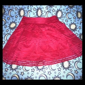 Torrid Red Skirt